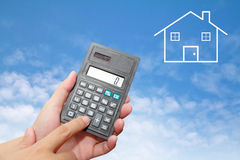 Calculator in Hand Royalty Free Stock Image