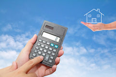 Calculator in Hand Stock Photography
