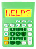 Calculator with HELP on display  isolated Stock Photo