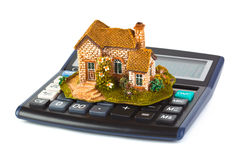Calculator and house Stock Photography