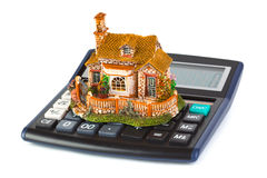 Calculator and house Royalty Free Stock Image