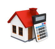 Calculator and House Icon Stock Photos