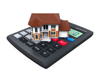 Calculator and House Icon Royalty Free Stock Photos