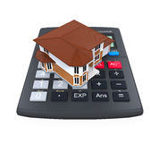 Calculator and House Icon Royalty Free Stock Photo