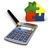 Calculator with house symbol Stock Image