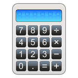 Calculator Icon. Illustration of a glossy calendar icon Royalty Free Stock Photo