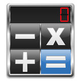Calculator Icon. On white background Stock Photography
