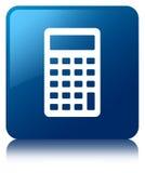 Calculator icon blue square button Royalty Free Stock Image