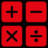 Calculator icon from Business Bicolor Set Stock Photography