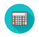 Calculator icon. Business concept with mathematics Royalty Free Stock Photos