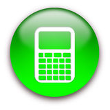 Calculator icon button Stock Photos