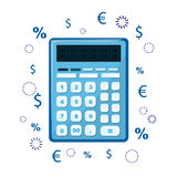 The calculator icon. Can be used as an icon of accounting or taxes. Sign of mathematics and counting. Vector Royalty Free Stock Image