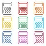 Calculator line icon, color icons set. Calculator icon, color icons set, simple vector icon Stock Photo