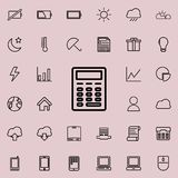 Calculator icon. Detailed set of minimalistic icons. Premium graphic design. One of the collection icons for websites, web design,. Mobile app on colored Royalty Free Stock Image
