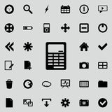 Calculator icon. Detailed set of minimalistic icons. Premium graphic design. One of the collection icons for websites, web design,. Mobile app on colored Royalty Free Stock Photo