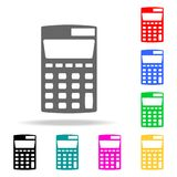 Calculator icon. Elements of School and study multi colored icons. Premium quality graphic design icon. Simple icon for websites,. Web design, mobile app, info Stock Photography