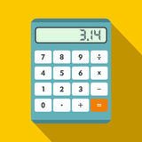 Calculator icon in flat style Stock Image