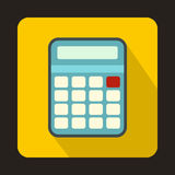 Calculator icon in flat style Stock Images