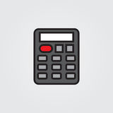 Calculator icon. Illustration isolated on white background for graphic and web design. Calculator icon. Illustration isolated on white background for graphic Stock Photography