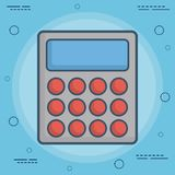 Calculator icon image. Calculator icon over blue background colorful design vector illustration Stock Photos