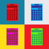 Calculator icon isolated on colorful background, illustration,  Royalty Free Stock Image