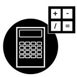 Calculator icon isolated on white background Royalty Free Stock Photos