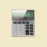 Calculator. Icon. Office Desk Top View. Calculator. Icon Stock Images