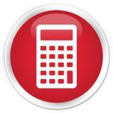 Calculator icon premium red round button Stock Photo