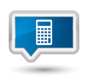 Calculator icon prime blue banner button Stock Images