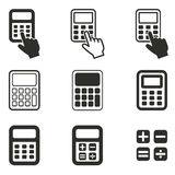 Calculator icon set. Calculator vector icons set. Black illustration isolated on white background for graphic and web design Royalty Free Illustration