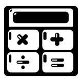 Calculator icon, simple black style. Calculator icon. Simple illustration of calculator vector icon for web Stock Photo