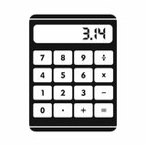 Calculator icon in simple style Stock Image