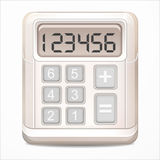 Calculator icon. Stylized image of a calculator vector Royalty Free Stock Photography