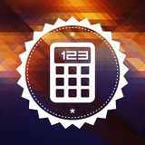 Calculator Icon on Triangle Background. Royalty Free Stock Images