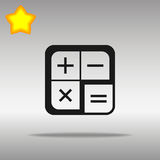Calculator icon, vector illustration. Flat design style Stock Photo