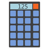 Calculator icon, vector illustration. Flat style design  on white. Colorful graphics Stock Photo