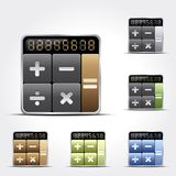 Calculator icons. Vector calculator icons set on gray background. Eps10 Stock Photo