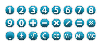 Calculator Icons Stock Photos