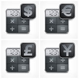 Calculator icons Royalty Free Stock Image