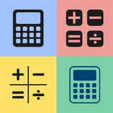 Calculator icons. Set of black calculator icons. Vector illustration Royalty Free Illustration