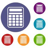 Calculator icons set Stock Images