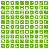 100 calculator icons set grunge green. 100 calculator icons set in grunge style green color isolated on white background vector illustration royalty free illustration