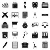 Calculator icons set, simple style Royalty Free Stock Images