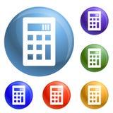Calculator icons set vector vector illustration