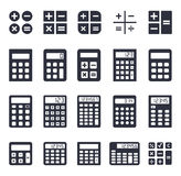 Calculator icons set Stock Image