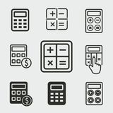 Calculator icons set. Calculator vector icons set. White illustration isolated for graphic and web design Stock Image