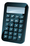 Calculator Illustration. An illustration of a black shiny retro calculator or calculator icon Stock Photography