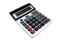 Calculator. Inclined isolated on white background Stock Image