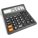 Calculator with INVEST on display. Royalty Free Stock Image
