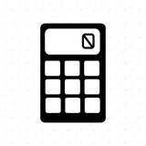 Calculator isolated design. Illustration eps10 graphic Stock Photo